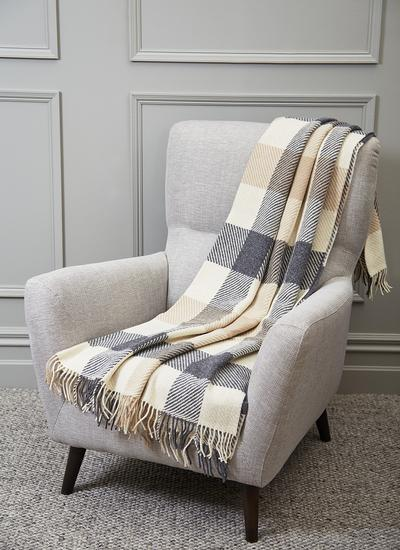 Classic Dublin Check Wool Throw