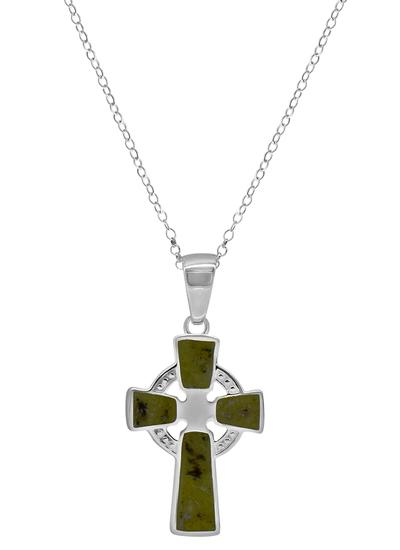 Connemara Marble Celtic Cross Pendant