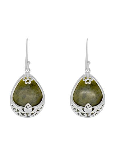 Connemara Marble Claddagh Basket Earrings