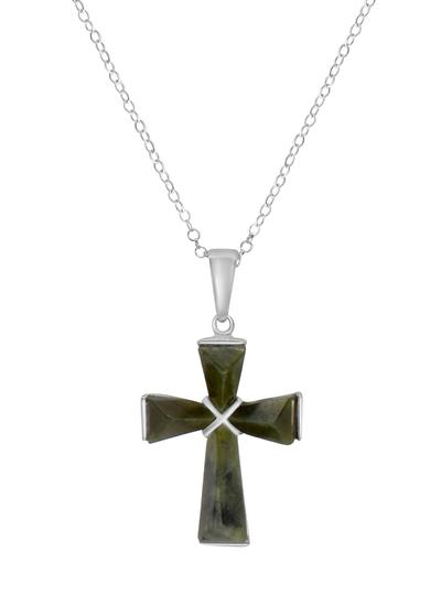 Connemara Marble Mini Celtic Cross Pendant