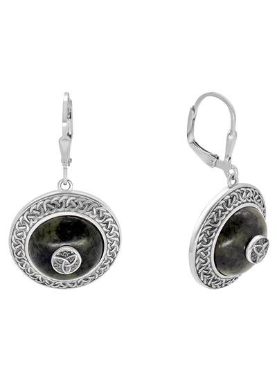 Connemara Marble Trinity Dome Earrings
