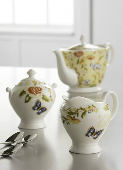 Cottage Garden Sugar Bowl & Creamer Set