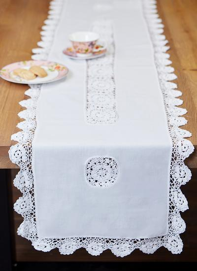 Crochet Edge Table Runner