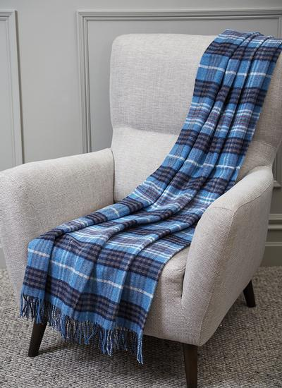 Crossmolina Blue Lambswool Throw