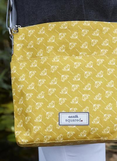 Dandelion Oil Cloth Messenger Bag