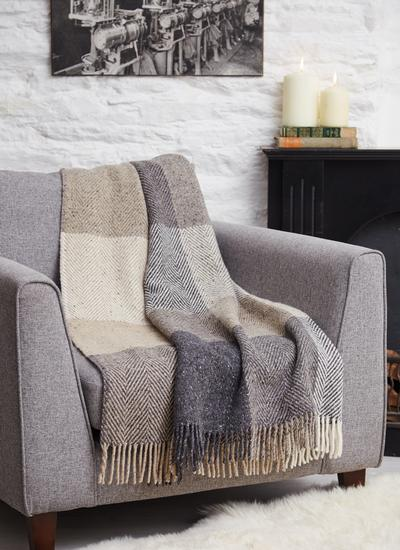 Donegal Tweed Herringbone Throw