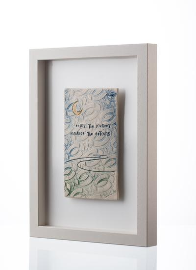 Enjoy The Journey Embrace The Detours Framed Tile