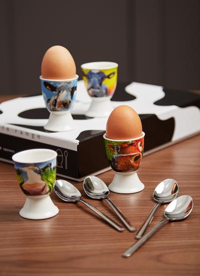 Eoin O'Connor Egg Cup & Spoon Set of 4