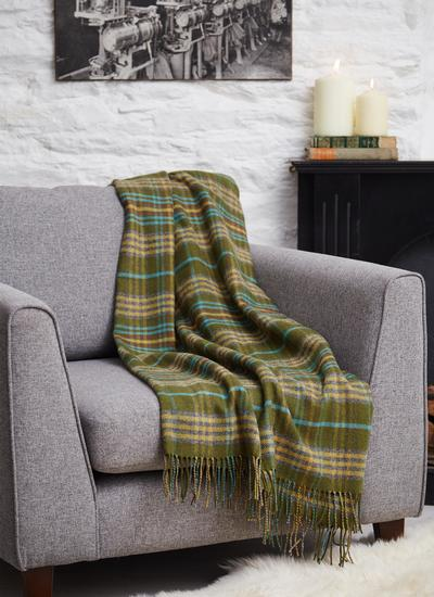 Evergreen Lambswool Throw