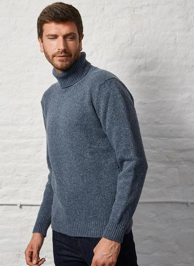 Fisherman Polo Neck Sweater