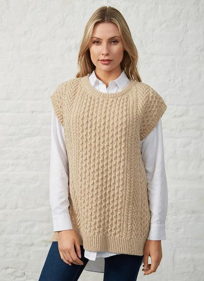 Fennel Oversized Aran Sweater Vest