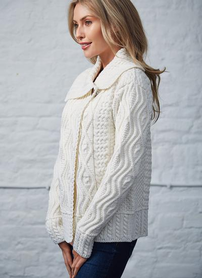 Fiona One Button Aran Cardigan