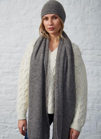 Fisherman Alpaca Oversized Scarf