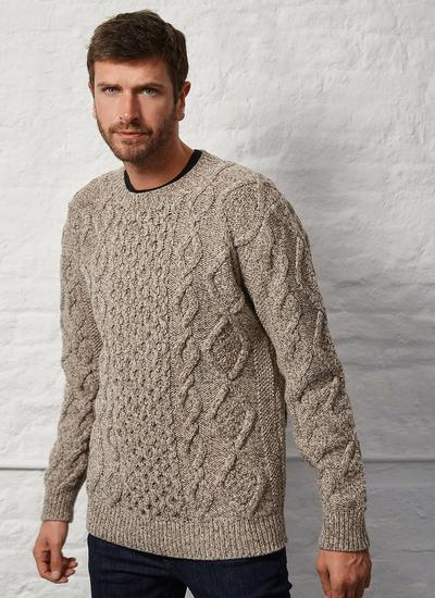 Fisherman Aran Crew Sweater