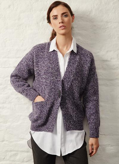 Fisherman Donegal Fleck Toggle Cardigan
