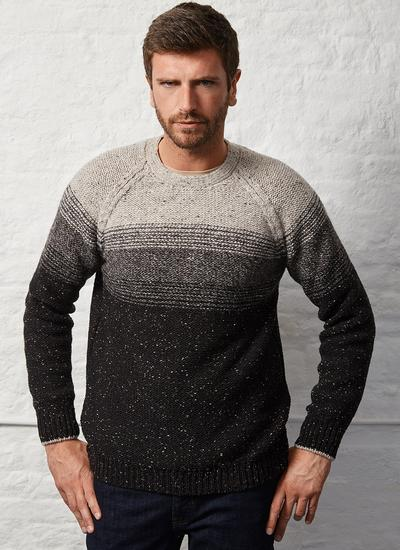 Fisherman Stripe Raglan Crew Neck Sweater