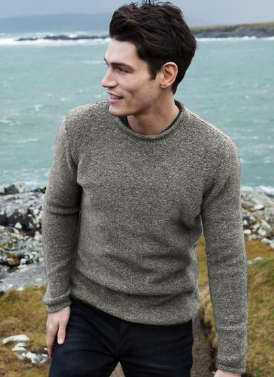 Fisherman Donegal Fleck Roll Neck Sweater