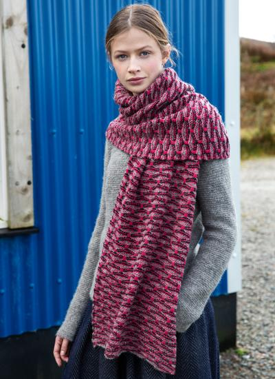 Fisherman Shell Stitch Oversized Scarf