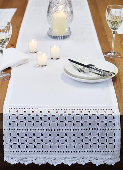 Floral Edge Table Runner