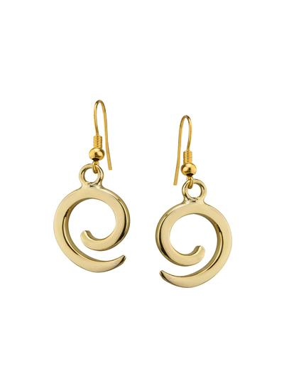 Ancient East Spiral Drop Earrings