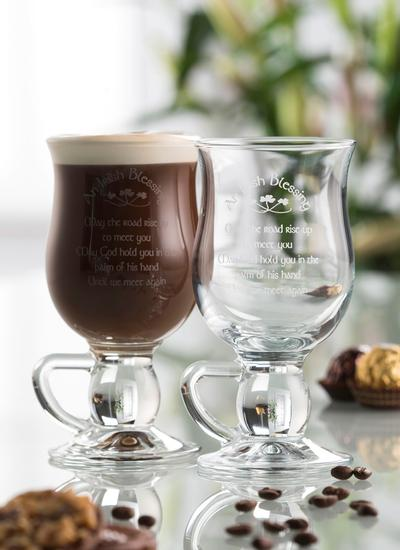 Galway Crystal Irish Blessing Latte Glasses (Pair)
