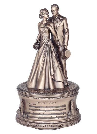 Just Married Bronze Music Box