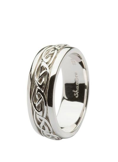 Gents Sterling Silver Celtic Knotwork Band