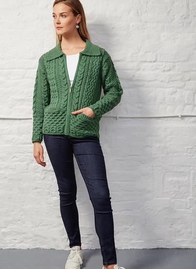 Grace Full Zip Aran Cardigan