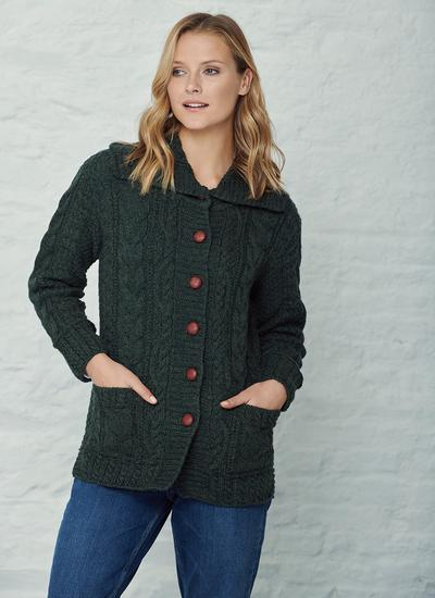 Grainne Aran Collar Cardigan