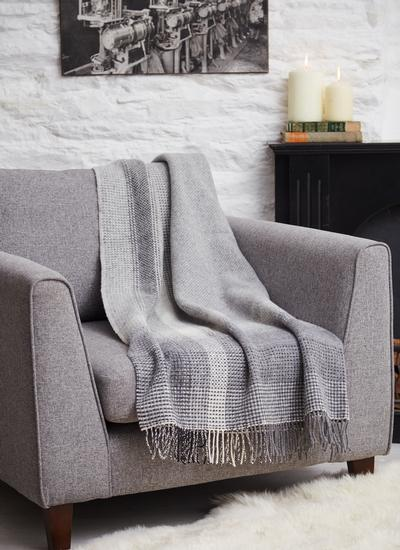 Stormy Clouds Wool Cashmere Throw