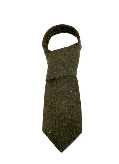 Green Tweed Tie