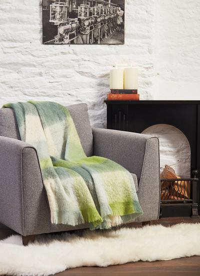 Greener Days Are Coming Mohair Throw