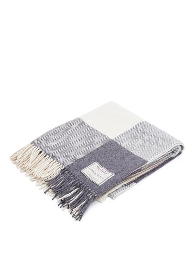 Herringbone Wool  Cashmere Throw