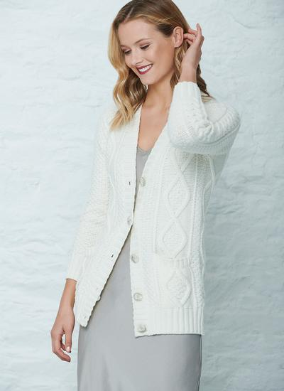Hilary Aran Cable Cardigan