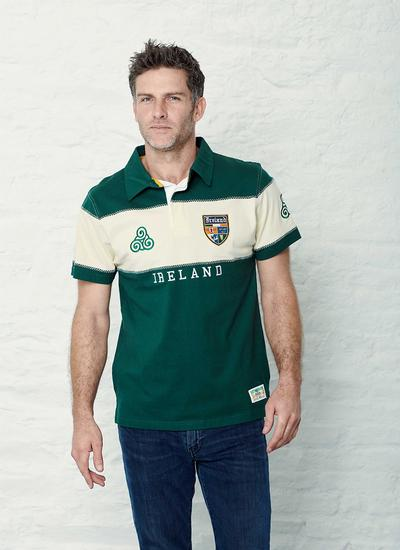 Ireland Four Provinces Crest Rugby Polo Shirt