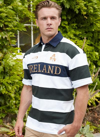 Ireland Stripe Short Sleeve Rugby Shirt