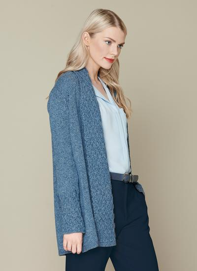 Wool Cashmere Luxe Collar Cardigan