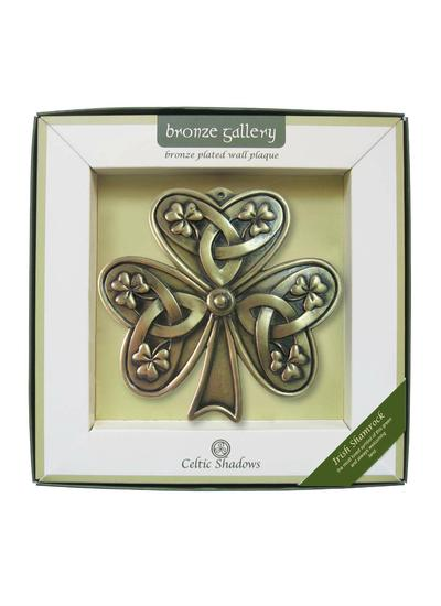 Irish Shamrock Bronze Plaque