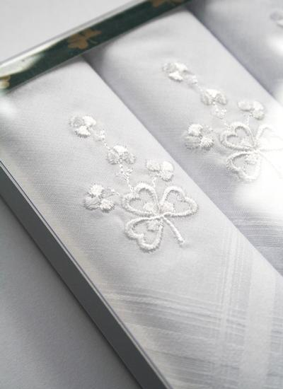 Irish Shamrock Gents Handkerchiefs Set of 3