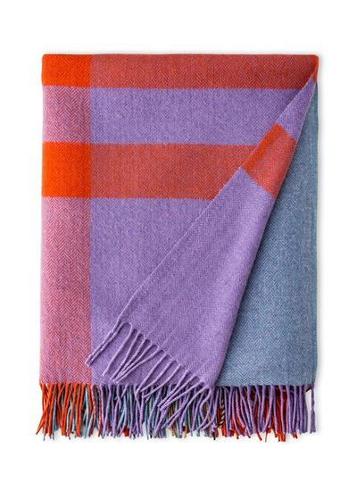 Irish Bug Coral Cashmere Blend Throw