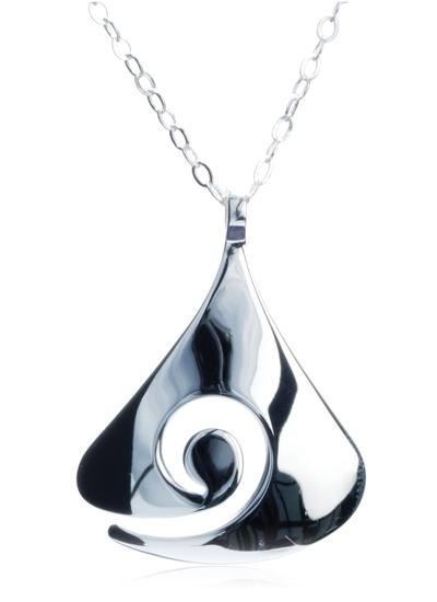 Contemporary Sterling Silver Celtic Pendant