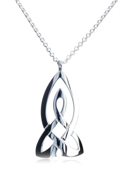 Large Celtic Knot Curved Pendant