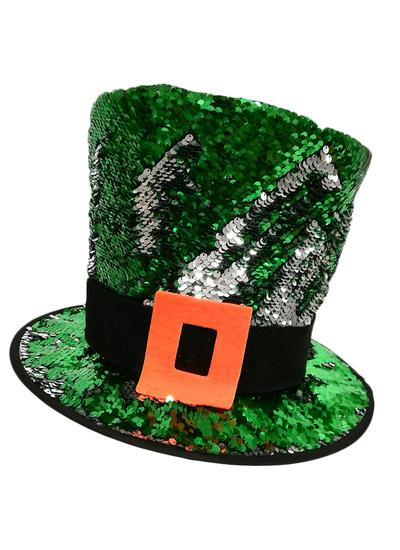 Kids Reversible Sequin Leprechaun Hat
