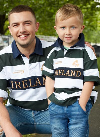 Kids Ireland Stripe Rugby Shirt