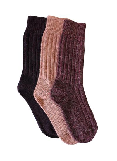 Set of 3 Ladies Wool Socks