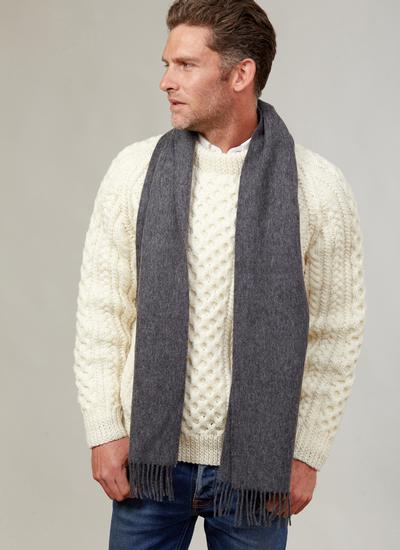Lambswool Scarf Dark Grey