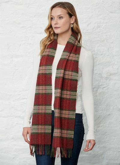 Lambswool Scarf Red Check