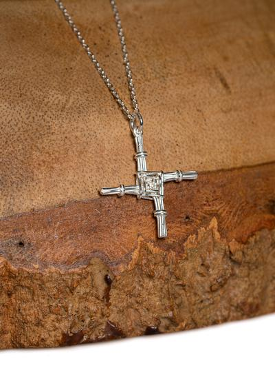 Large Sterling Silver St. Brigid's Cross Pendant