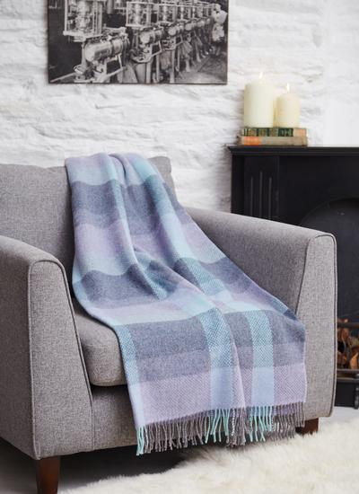 Lilac Dreams Wool Cashmere Throw