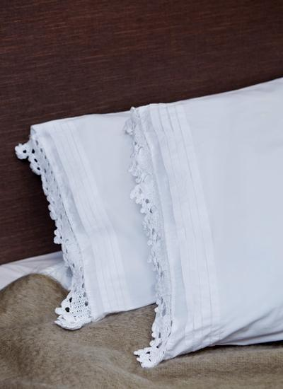 Linear Embroidered Housewife Pillowcases Set of 2